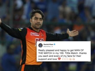 Rashid Khan youngest to 100 T20 wickets, wins Man of Match in 100th T20
