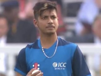 Sandeep Lamichhane 1st to make international debut for combined team