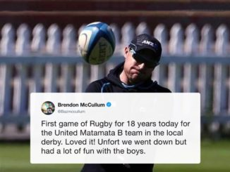 Brendon McCullum returns to rugby after a gap of 18 years #BrendonMcCullum