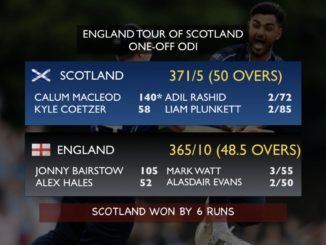 13th-ranked Scotland score 371, beat no. 1 ranked ODI Team England by 6 runs #England #Scotland #Cricket #SCOvENG